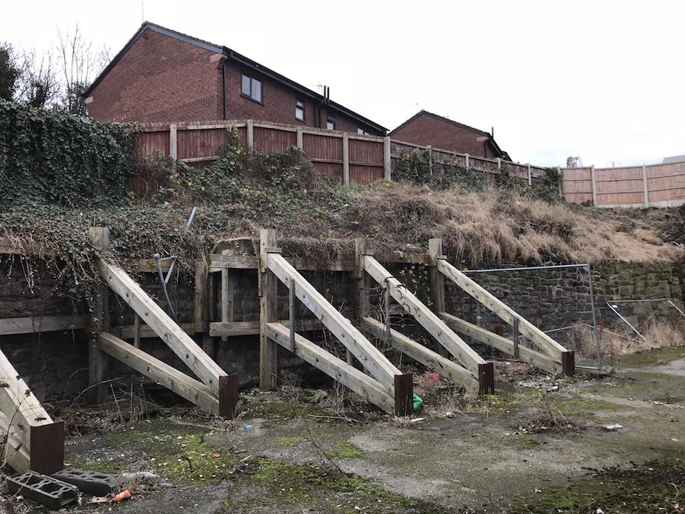 Failed Retaining Wall in Runcorn, Cheshire