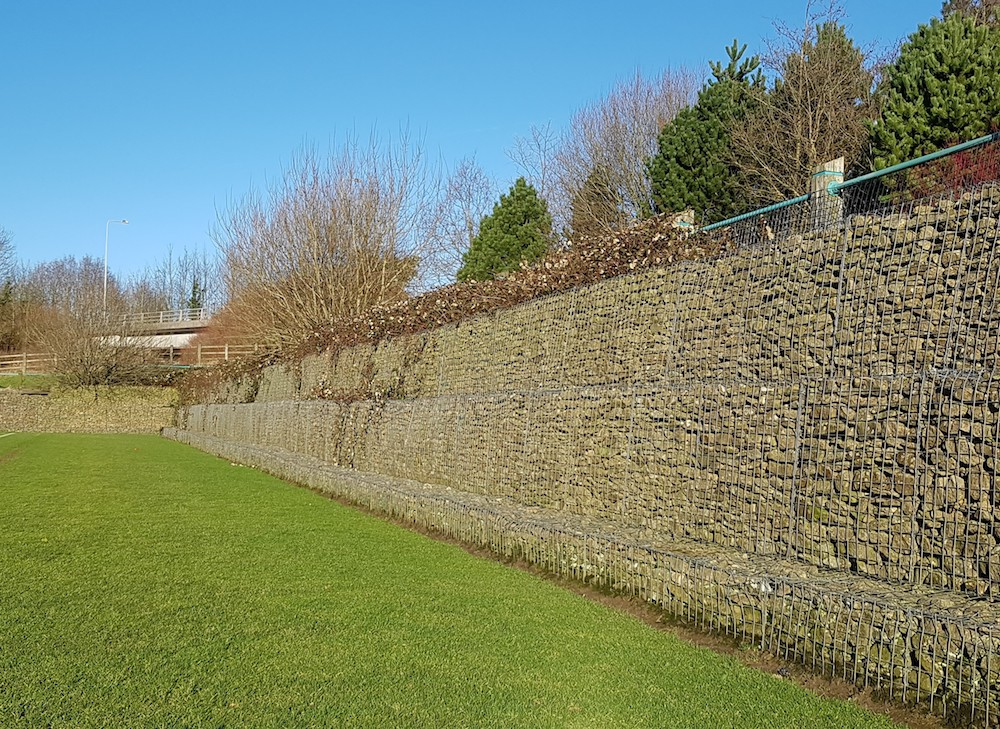 Gabion Basket Retaining Wall in Preston, Lancashire