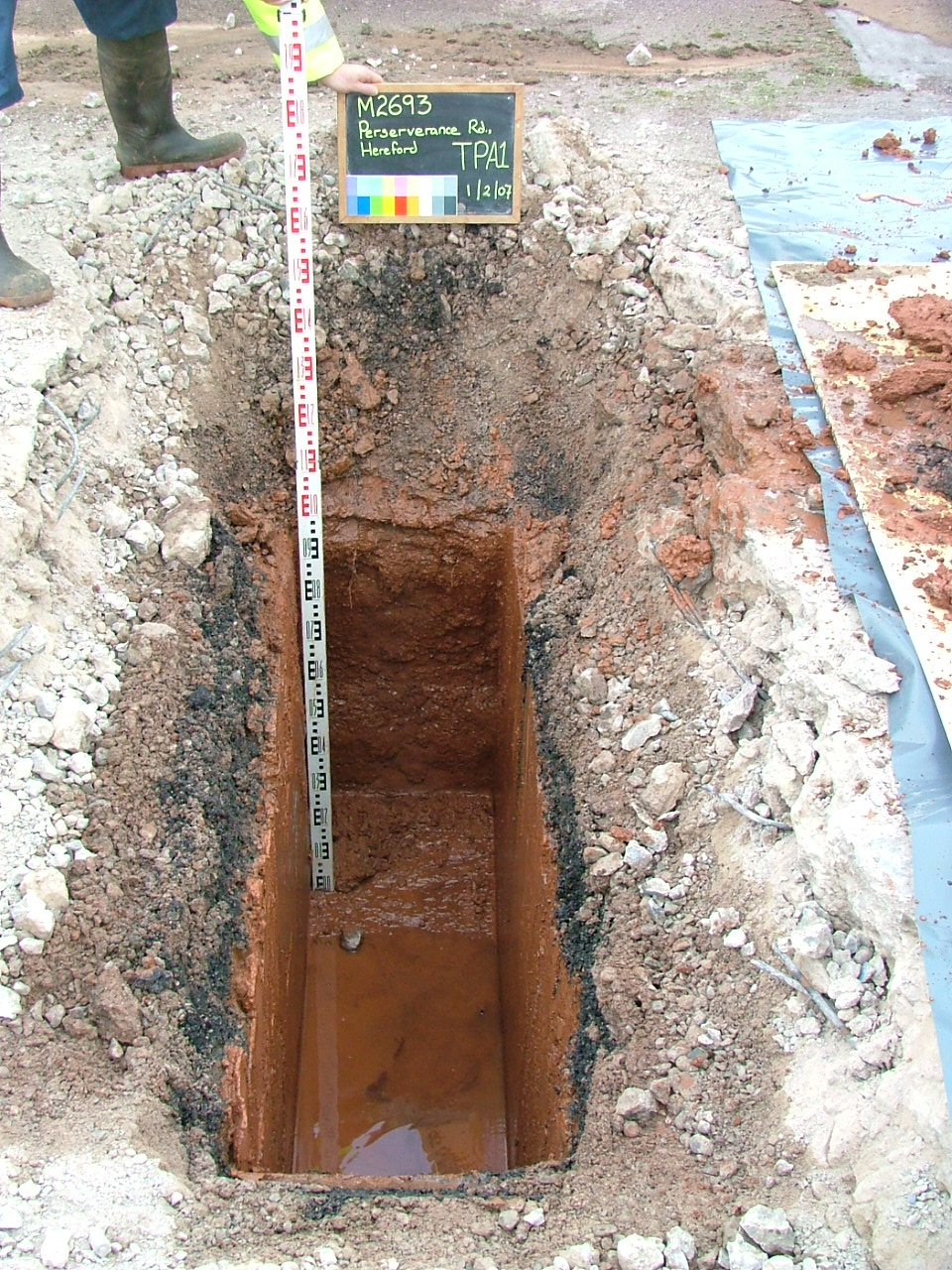 Machine Excavated Trial Pit in Hereford, Herefordshire