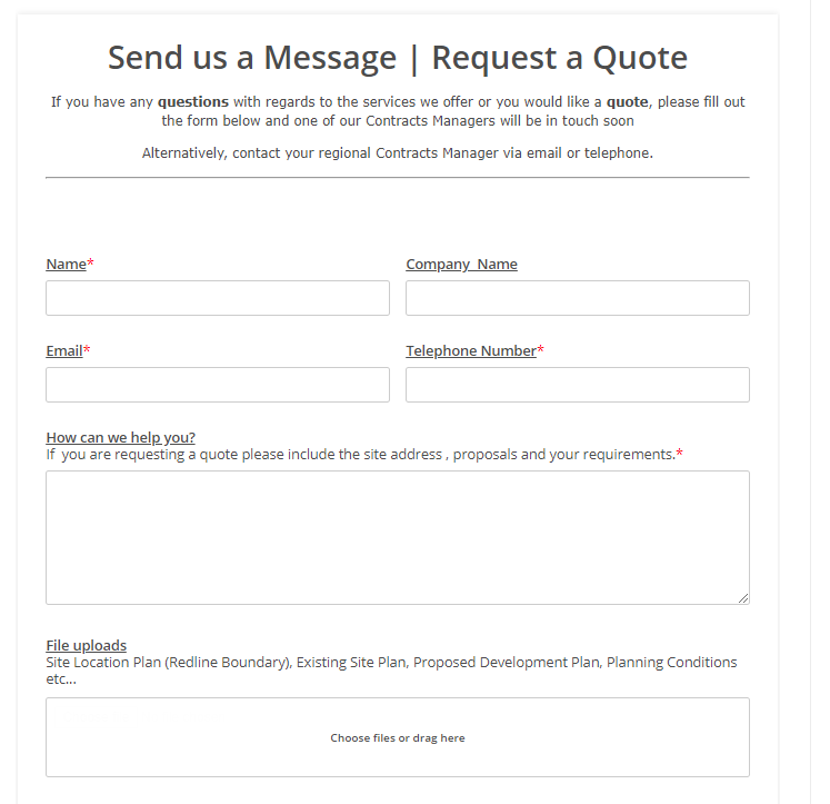 Send us a Message - Get a Quote