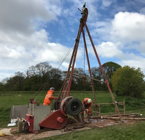 Cable Percussive Drilling Ground Investigation in Manchester