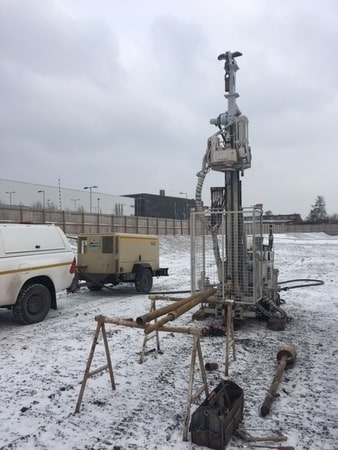 Rotary Open Hole Drilling Ground Investigation in Leeds, Yorkshire